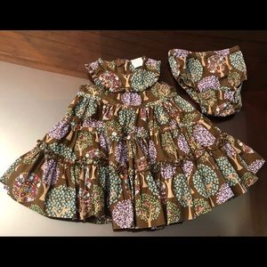 Baby Gap 0-3 Month woodland pattern dress w/diaper